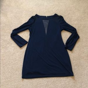 Navy Blue Express Cut Out Dress